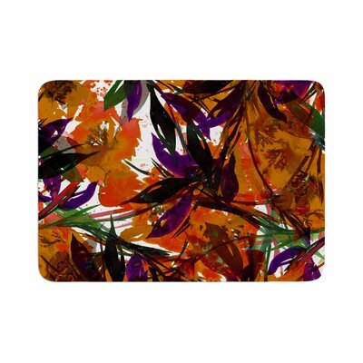 Ebi Emporium Floral Fiesta Floral Painting Memory Foam Bath Rug Size: 0.5 H x 17 W x 24 D