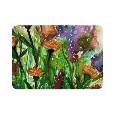 Ebi Emporium Floral Insurgence 6 Memory Foam Bath Rug Size: 0.5 H x 24 W x 36 D
