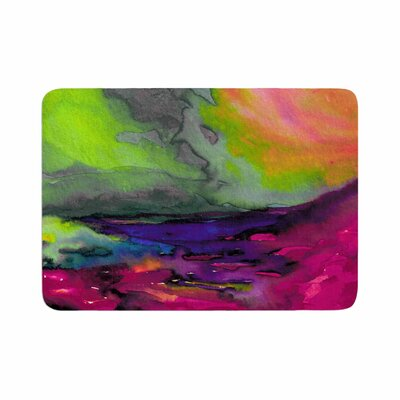 Ebi Emporium Elevated 1, Magenta Memory Foam Bath Rug Size: 0.5 H x 24 W x 36 D