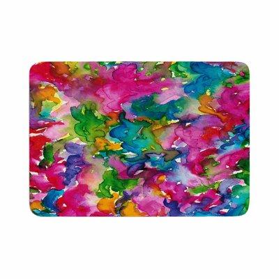 Ebi Emporium Summer Swirls Memory Foam Bath Rug Size: 0.5 H x 24 W x 36 D