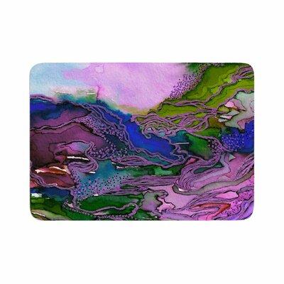 Ebi Emporium Bring on Bohemia 2, Lavender Memory Foam Bath Rug Size: 0.5 H x 24 W x 36 D