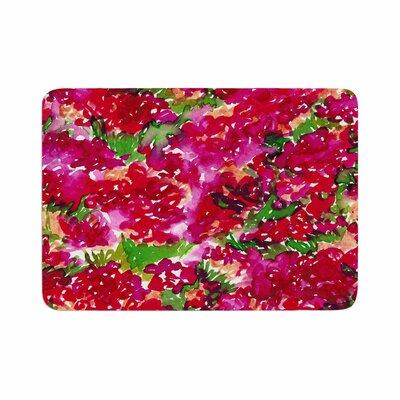 Ebi Emporium Floral Assumption Memory Foam Bath Rug Size: 0.5 H x 24 W x 36 D