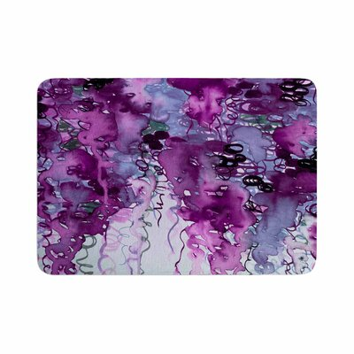 Ebi Emporium Beauty in the Rain Emerald Memory Foam Size: 0.5 H x 24 W x 36 D, Color: Purple