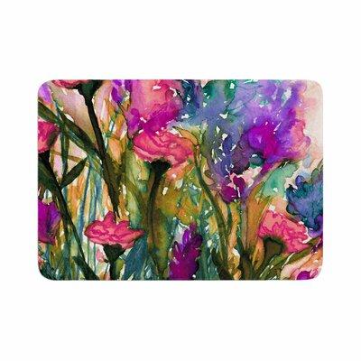 Ebi Emporium Floral Insurgence 3 Memory Foam Bath Rug Size: 0.5 H x 24 W x 36 D