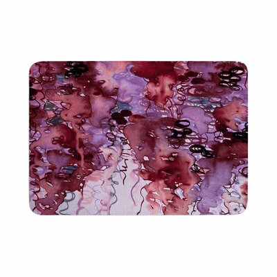 Ebi Emporium Beauty in the Rain Emerald Memory Foam Size: 0.5 H x 17 W x 24 D, Color: Red/ Purple