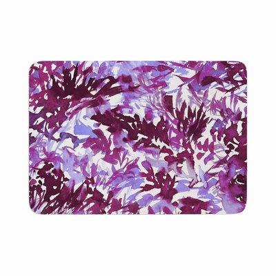 Ebi Emporium in the Meadow 3 Plum Memory Foam Bath Rug Size: 0.5 H x 24 W x 36 D