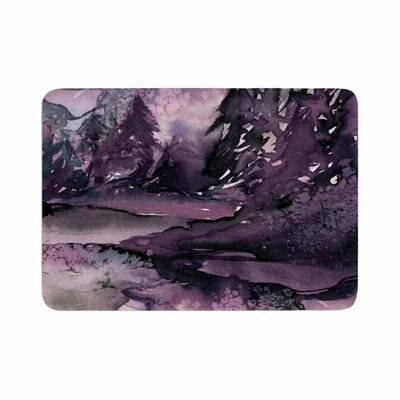 Ebi Emporium Never Leave the Path 6 Watercolor Memory Foam Bath Rug Size: 0.5 H x 24 W x 36 D