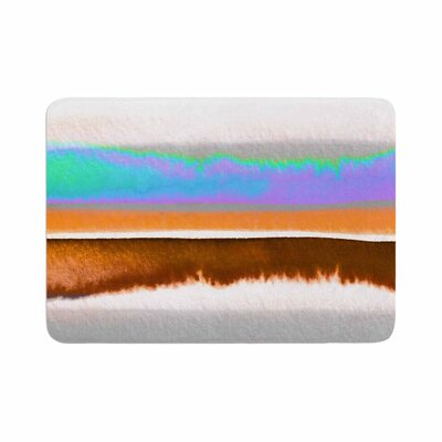 Ebi Emporium Prism Stripes 1 Memory Foam Bath Rug Size: 0.5 H x 24 W x 36 D