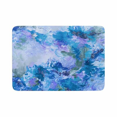 Ebi Emporium When We Were Mermaids 15 Watercolor Memory Foam Bath Rug Size: 0.5 H x 24 W x 36 D
