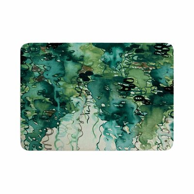 Ebi Emporium Beauty in the Rain Emerald Memory Foam Size: 0.5 H x 17 W x 24 D, Color: Green