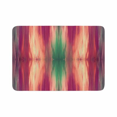 Ebi Emporium Butterfly Tribal 2 Magenta Painting Memory Foam Bath Rug Size: 0.5 H x 24 W x 36 D