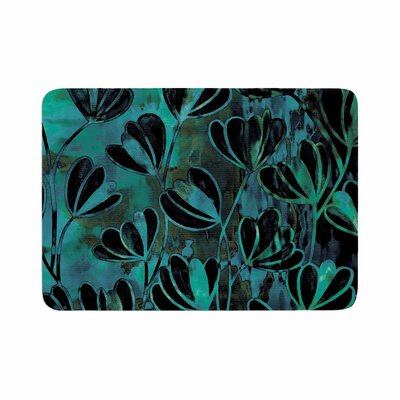 Ebi Emporium Efflorescence, Night Blossoms Watercolor Memory Foam Bath Rug Size: 0.5 H x 24 W x 36 D