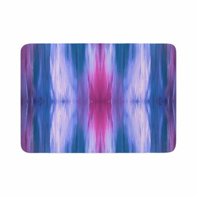 Ebi Emporium Butterfly Tribal 3 Magenta Painting Memory Foam Bath Rug Size: 0.5 H x 17 W x 24 D