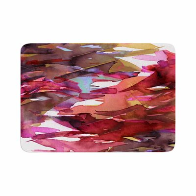 Ebi Emporium Fervor 6 Watercolor Memory Foam Bath Rug