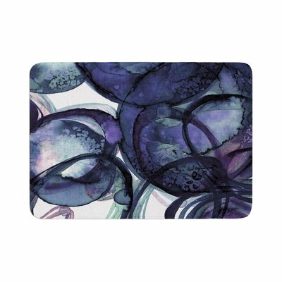 Ebi Emporium Worlds Collide 5 Watercolor Memory Foam Bath Rug Size: 0.5 H x 24 W x 36 D