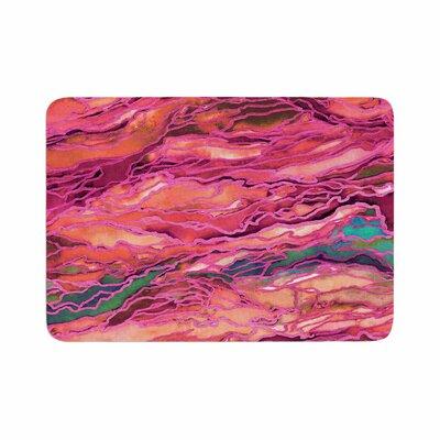 Ebi Emporium Marble Idea! Miami Heat Memory Foam Bath Rug Size: 0.5 H x 17 W x 24 D