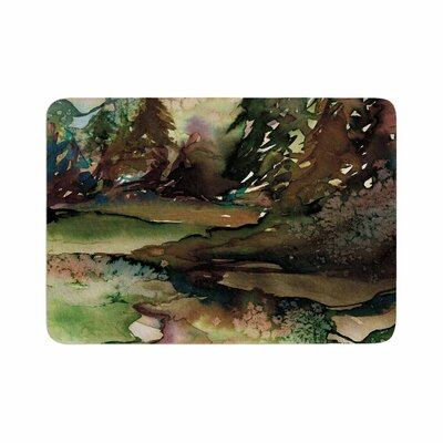 Ebi Emporium Never Leave the Path 1 Watercolor Memory Foam Bath Rug Size: 0.5 H x 24 W x 36 D