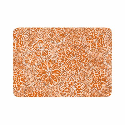 Julia Grifol Garden Flowers Floral Memory Foam Bath Rug Size: 0.5 H x 17 W x 24 D