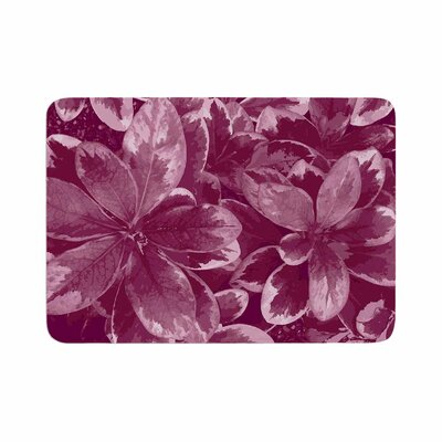 Julia Grifol Warm Leaves Digital Memory Foam Bath Rug Size: 0.5 H x 17 W x 24 D