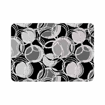 Julia Grifol Simple Circles Memory Foam Bath Rug Size: 0.5 H x 17 W x 24 D