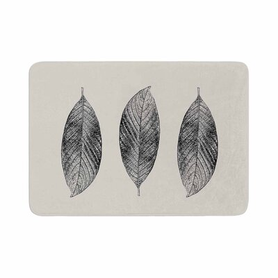 Julia Grifol Three Leaves Memory Foam Bath Rug Size: 0.5 H x 24 W x 36 D