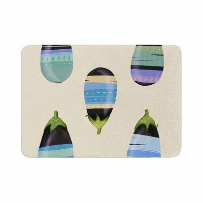 Judith Loske Happy Aubergines Memory Foam Bath Rug Size: 0.5 H x 17 W x 24 D