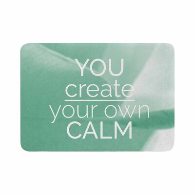 Tiny September You Create Your Own Calm Photography Memory Foam Bath Rug Size: 0.5 H x 17 W x 24 D