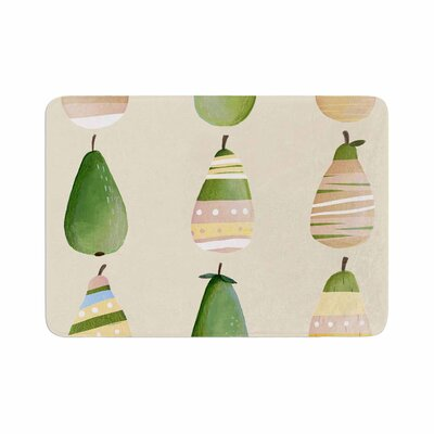 Judith Loske Happy Pears Memory Foam Bath Rug Size: 0.5 H x 17 W x 24 D
