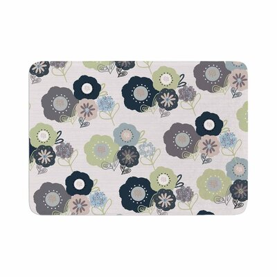 Jolene Heckman Floral Bunches Memory Foam Bath Rug Size: 0.5 H x 17 W x 24 D