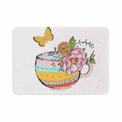 Jennifer Rizzo Tea Cup Vase Vintage Memory Foam Bath Rug Size: 0.5 H x 24 W x 36 D
