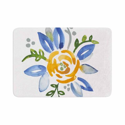 Jennifer Rizzo Buttercup Floral Memory Foam Bath Rug Size: 0.5 H x 17 W x 24 D