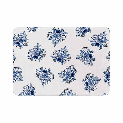 Jennifer Rizzo Garden Flowers Floral Memory Foam Bath Rug Size: 0.5 H x 17 W x 24 D