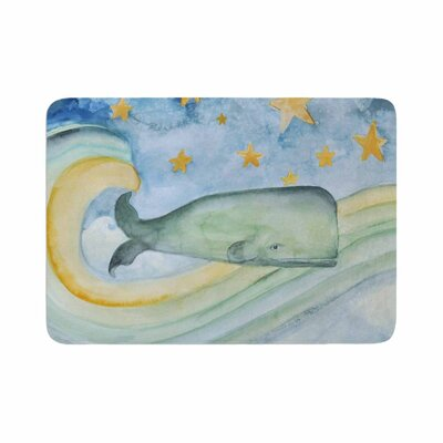Jennifer Rizzo Swimming with the Stars Illustration Animals Memory Foam Bath Rug Size: 0.5 H x 24 W x 36 D