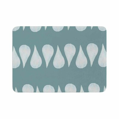 Jennifer Rizzo Altered Raindrops Abstract Memory Foam Bath Rug Size: 0.5 H x 17 W x 24 D