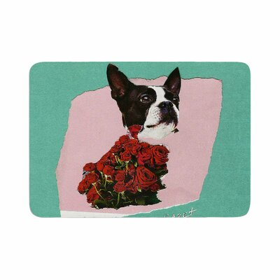 Jina Ninjjaga Bully Olive Photography Memory Foam Bath Rug