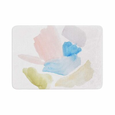 Jennifer Rizzo Confetti Watercolor Abstract Memory Foam Bath Rug Size: 0.5 H x 17 W x 24 D