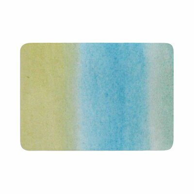 Jennifer Rizzo Watercolor Paint Stripe Memory Foam Bath Rug Size: 0.5 H x 17 W x 24 D