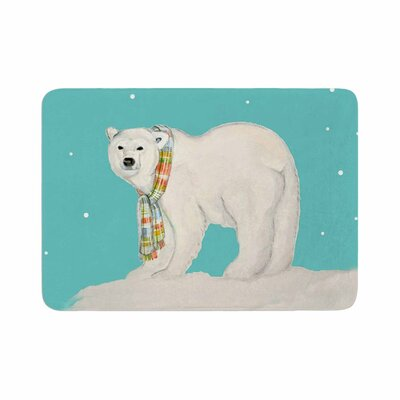 Jennifer Rizzo Chilly Snow Bear Memory Foam Bath Rug Size: 0.5 H x 17 W x 24 D