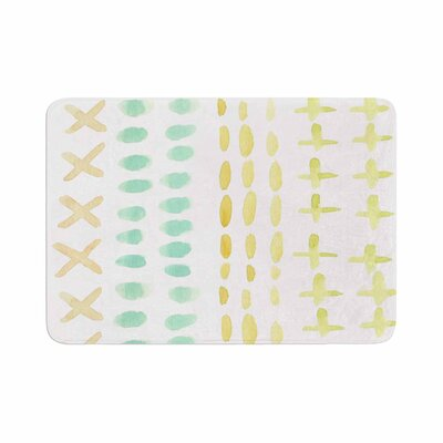 Jennifer Rizzo Dots and Dashes Memory Foam Bath Rug Size: 0.5 H x 17 W x 24 D