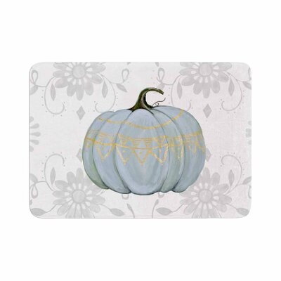 Jennifer Rizzo Boho Pumpkin Illustration Memory Foam Bath Rug Size: 0.5 H x 24 W x 36 D