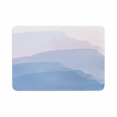 Jennifer Rizzo Layered Mountains Abstract Memory Foam Bath Rug Size: 0.5 H x 24 W x 36 D