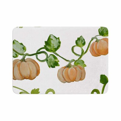 Jennifer Rizzo Trio of Fall Pumpkins Painting Memory Foam Bath Rug Size: 0.5 H x 17 W x 24 D