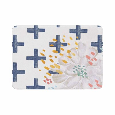 Jennifer Rizzo Bright and Pretty Floral Memory Foam Bath Rug Size: 0.5 H x 17 W x 24 D