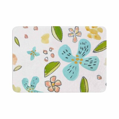 Jennifer Rizzo Happy Flower Dance Floral Memory Foam Bath Rug Size: 0.5 H x 17 W x 24 D