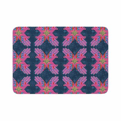 Jane Smith Hamsa Pattern Memory Foam Bath Rug Size: 0.5 H x 17 W x 24 D