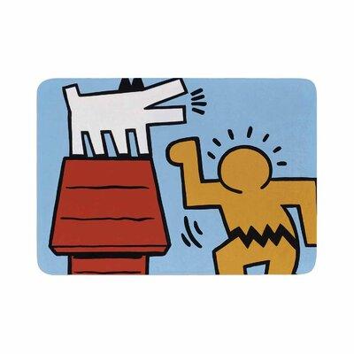 Jared Yamahata Haring-Schulz Illustration Pop Art Memory Foam Bath Rug