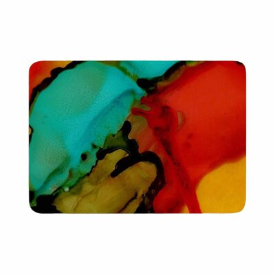 Abstract Anarchy Design Caldera #1 Memory Foam Bath Rug Size: 0.5 H x 24 W x 36 D