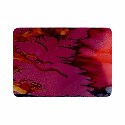 Abstract Anarchy Design Marianas Trench Tags Memory Foam Bath Rug Size: 0.5 H x 24 W x 36 D