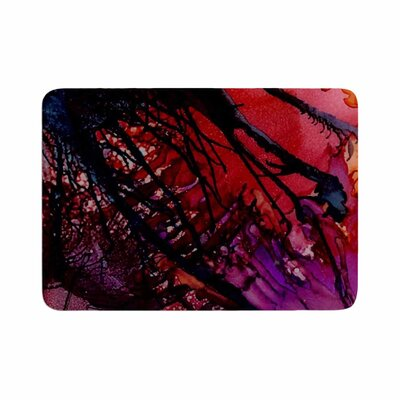Abstract Anarchy Design Daisy Memory Foam Bath Rug Size: 0.5 H x 17 W x 24 D