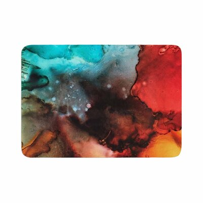 Abstract Anarchy Design Birth Place of the Heavens Abstract Memory Foam Bath Rug Size: 0.5